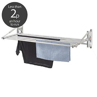 Dry:Soon Wall Mounted Heated Airer - from Lakeland