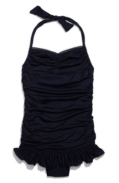 Juicy Couture Beach Juicy Couture Halter Swimsuit (Big Girls) available at #Nordstrom