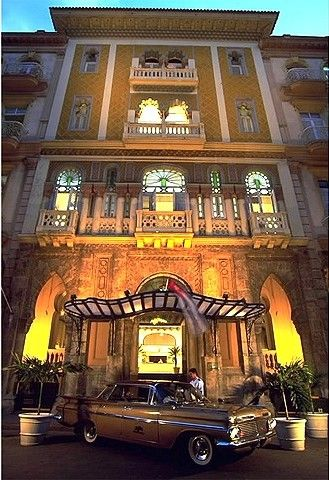"""Sevilla, Havana Cuba. The very same hotel were """"Santos, el Traficante"""" the american gangster used to stay... Exactly as it in the Hollywood gangsters movies: the same wall, the same dinning room with the piano."""