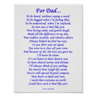 Poems About Dads From Daughters | dad memorial poem by nikiclix you can find both versions of this poem ...