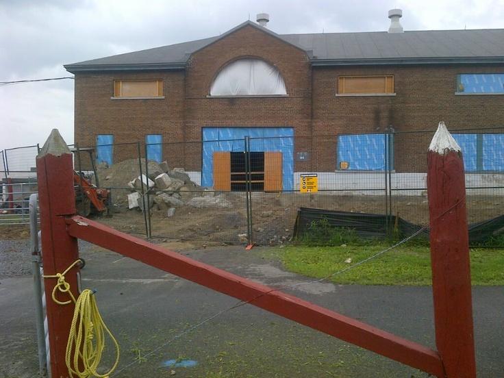 Été 2012 - Ceci sera l'entrée principale du Centre d'apprentissage qui sera située sur le côté est, face au site du Musée