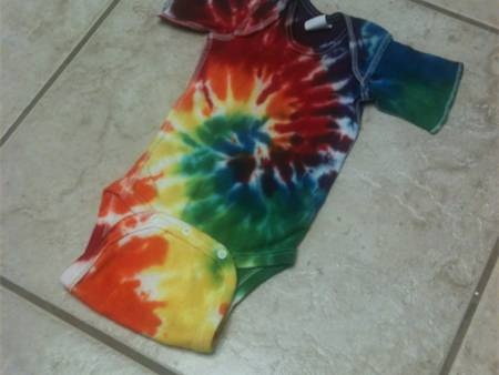 Well of course Baby Boy Schaefer will rock tie dye! Just like his momma :)