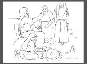 Jesus Loves Young And Old Bible Coloring Page
