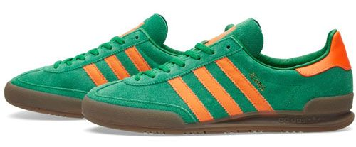 Adidas Jeans trainers in green suede