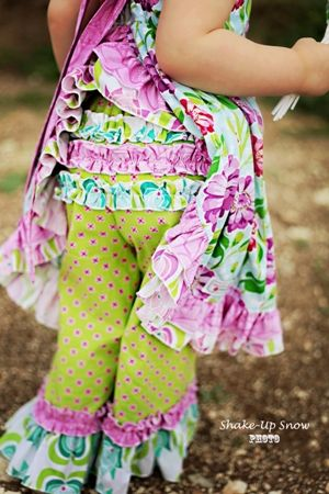 Olivia's Ruffle Butt Pants PDF Sewing Pattern for girls by Create Kids Couture