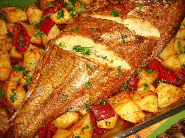Um peixinho assado para o meio da semana parece-me bastante bem! Um prato que agrada e faz as delícias de muitos! Desta vez um tempero esp...