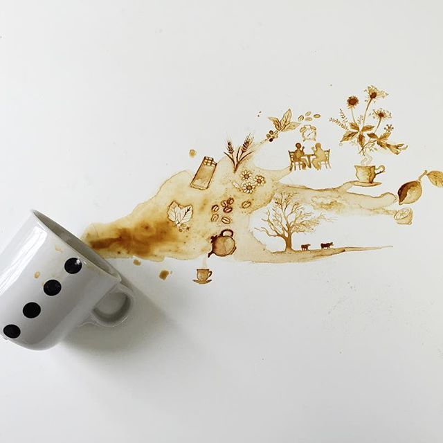 1000 Ideas About Coffee Painting On Pinterest Coffee