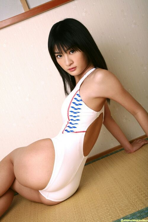 Sexy asian girl wears white swimsuit #asiangirl