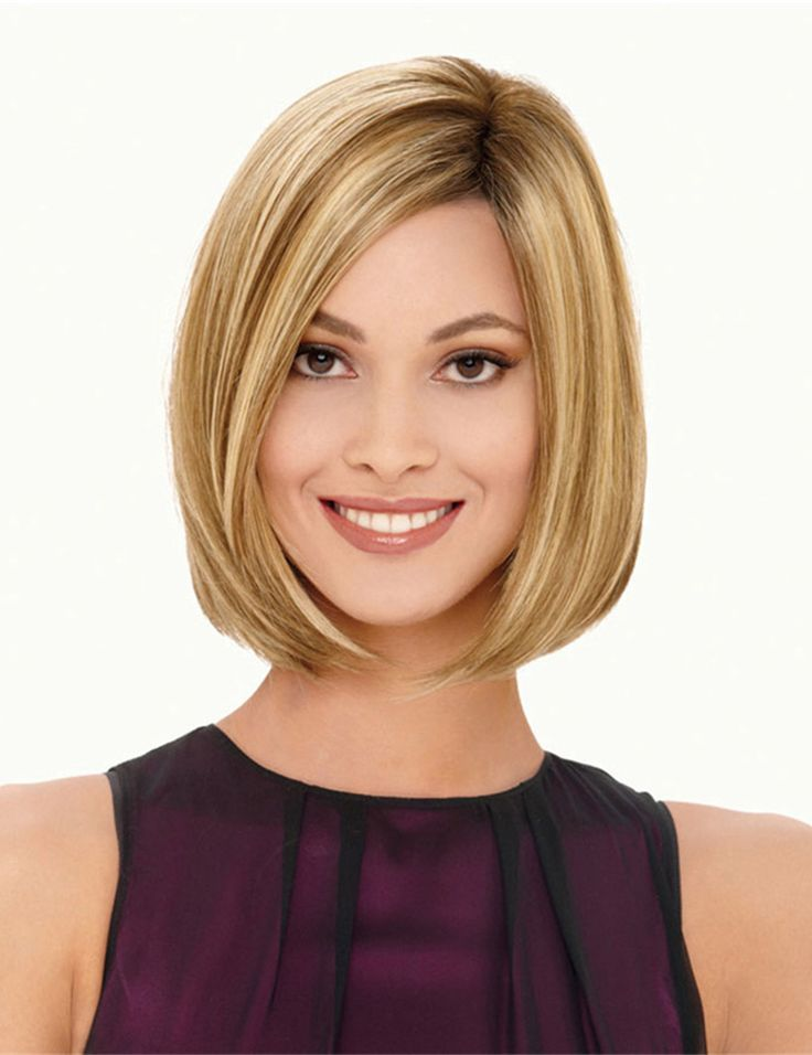 Ombre Synthetic Wigs High Quality Short Blonde Synthetic Hair For American Afro Wigs Nice Natural Straight Women Wig Peluca