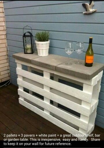 Pallets and blocks.