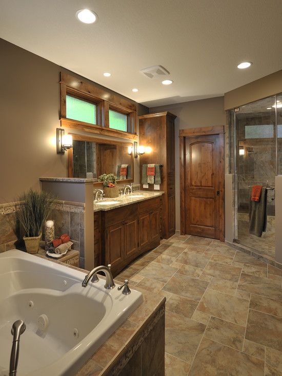 Bathroom bathroom design pictures and rustic lake houses for Rustic tile bathroom ideas
