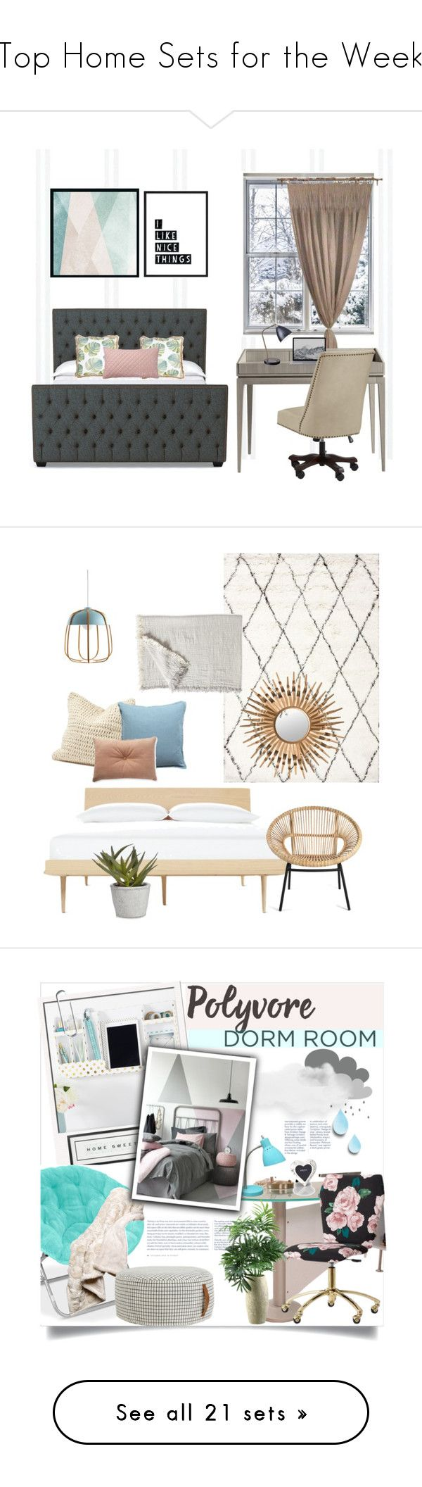 """""""Top Home Sets for the Week"""" by polyvore ❤ liked on Polyvore featuring interior, interiors, interior design, home, home decor, interior decorating, Pottery Barn, Sandberg Furniture, Anthropologie and Pier 1 Imports"""