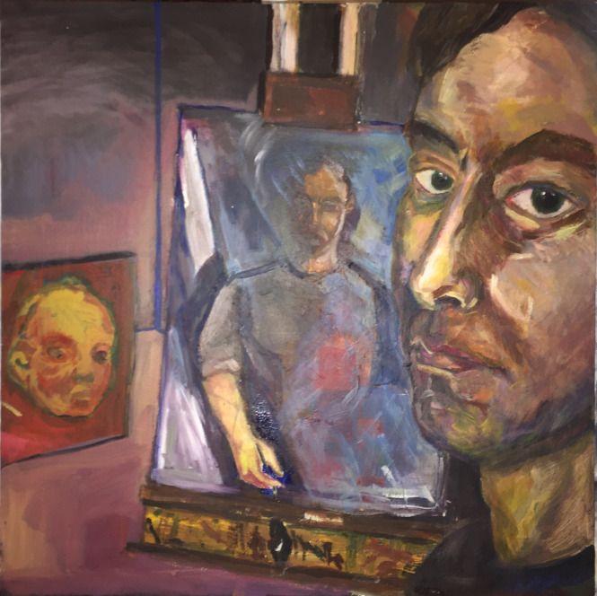 self-portrait, in progress.