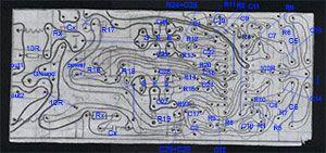 TDA7250 - печатная плата, расположение деталей