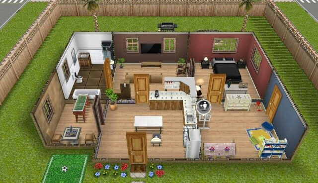 Sims freeplay earth tones house sim freeplay pinterest for Minimalist house sims 2
