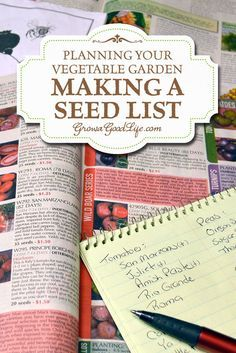 Winter is the perfect time to plan your vegetable garden. Once spring comes there is so much to do. It is helpful to have your seeds organized when it is time to plant them.    Making a Seed List   Grow a Good Life