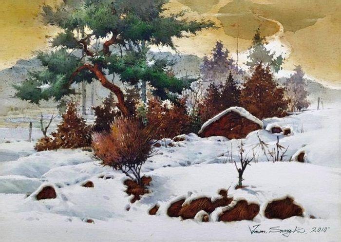 Sung Ki Jeon (Coreea), acuarelă