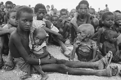 starving children. africa
