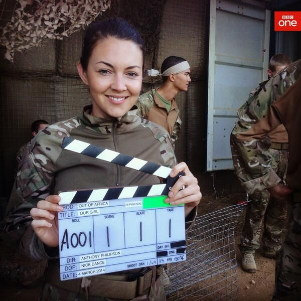 Here's a sneaky little Behind The Scenes shot of Lacey Turner in Our Girl which is coming to BBC One soon!