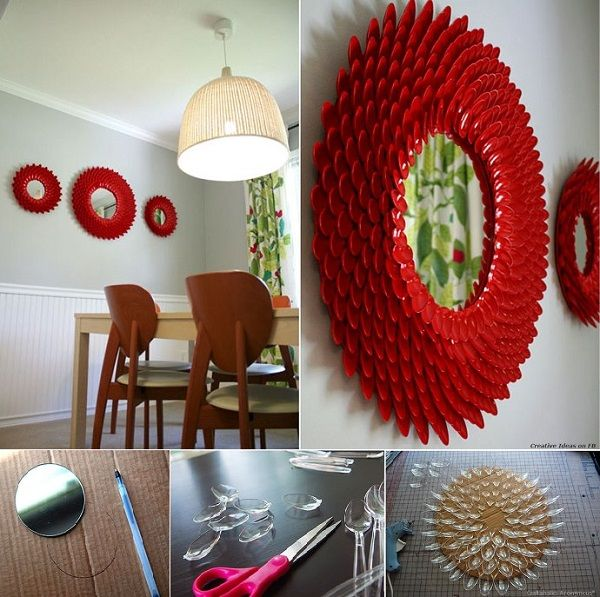 DIY Project: Unique Round Mirror Design Idea