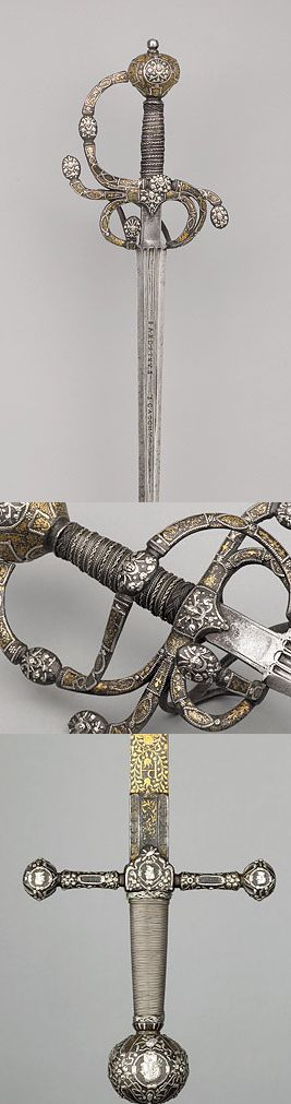 A Swept-hilt Rapier, English, c. 1605-15 .  An exceptionally rare example of…