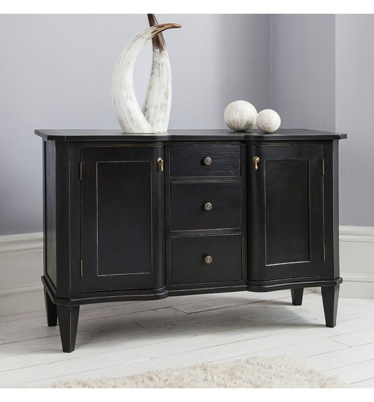 Bergere French Shabby Chic Black Sideboard Dresser The Bergere sideboard is…