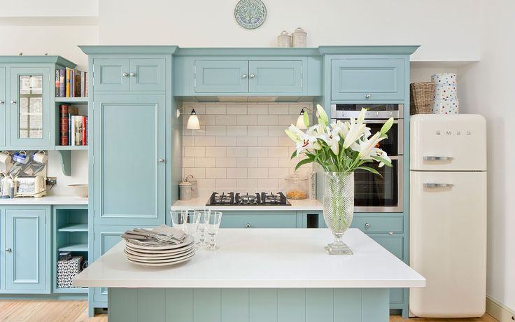 Pale Green Kitchen Island
