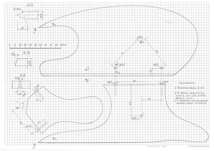 Универсальная портновская колодка для вто чертеж
