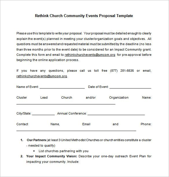 Church Event Proposal Free Word Download1