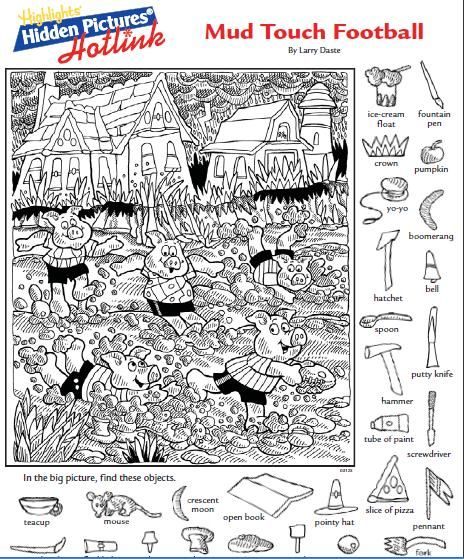 Printable Hidden Pictures - CartoonRocks.com