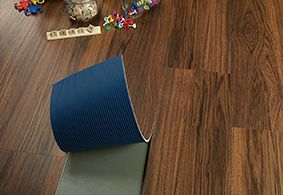In a rental? You can't get any easier to install, replace or even take with you when you move. Earthwerks: Aurora Loose Lay Luxury Vinyl Plank