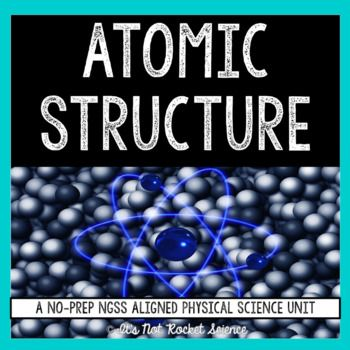 A COMPLETE atomic structure unit covering history of atomic theory, structure of the atom, atomic calculations with atomic number and mass number, isotopes, arrangement of the periodic table, and Bohr model drawings.  This includes notes, activities, game, quizzes, and tests, plus YouTube videos for each set of lecture notes. Perfect for teachers new to the subject, flipped classrooms, or going on maternity leave!