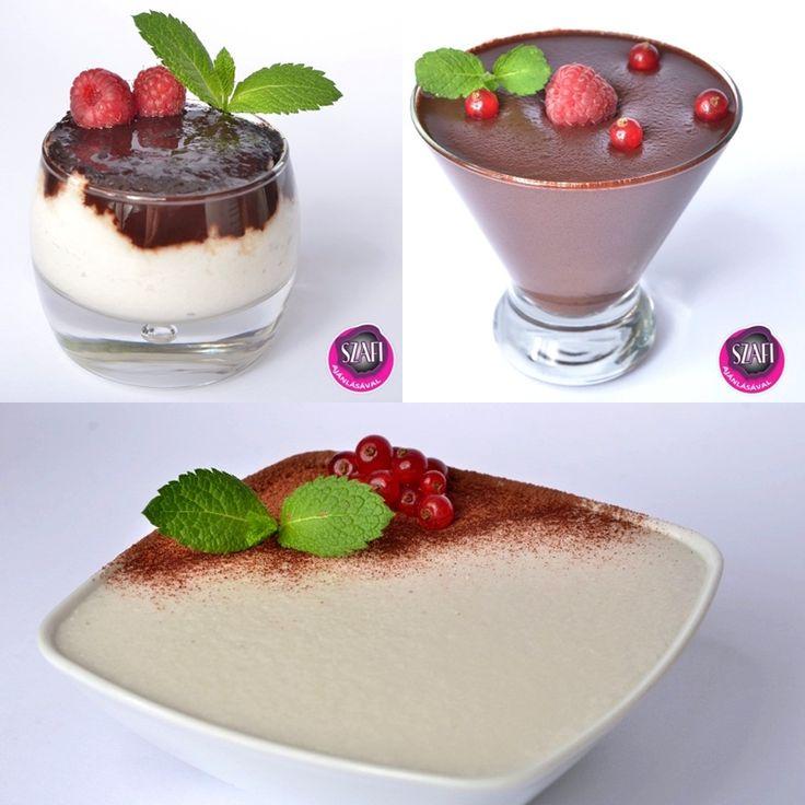 Diétás Csokipuding, diétás tejbegríz, diétás bounty krém (Paleo és Vegán gluténmentes receptek) ~ Éhezésmentes Karcsúság Szafival