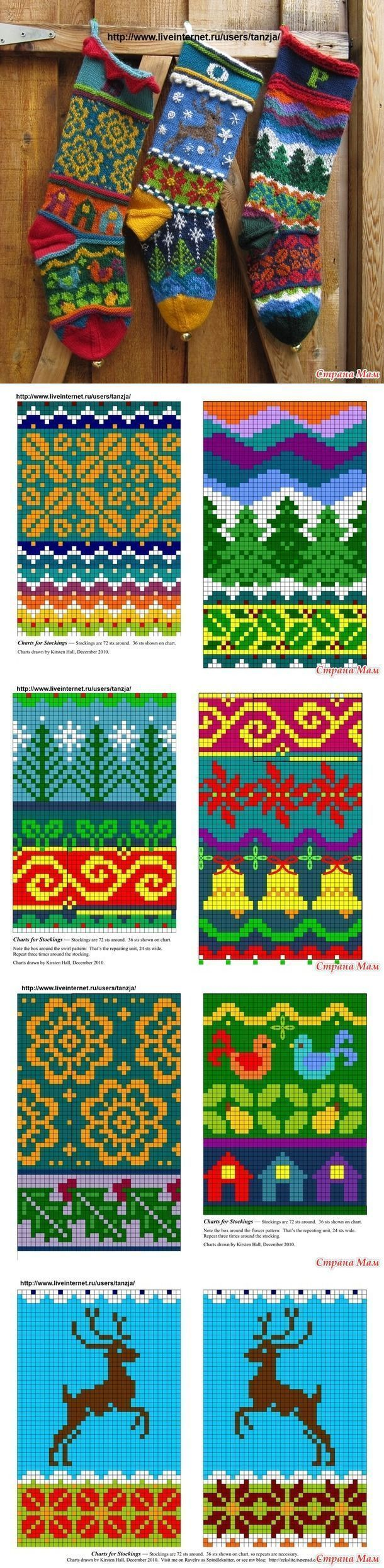 Christmas socks by Kirsten Hall – Jacquard -… – Knitting