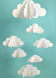 Decorate your nursery with this cloud mobile.