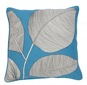 Simple and amazing! Loving this cushion! Palm Cushion Blue from Kush Living