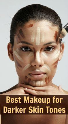 Best department store and drugstore makeup for dark skin tones; makeup for black women; makeup for Hispanic women