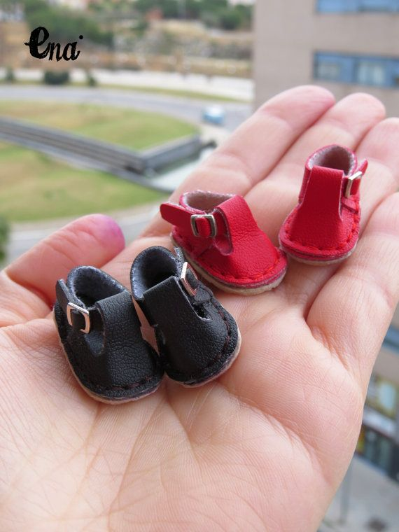 leatherette shoes with buckles and rubber soles by EnaEnamorada