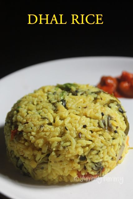 Arisi Paruppu Sadam Recipe - Healthy Dhal Spinach Rice Recipe - Yummy Tummy