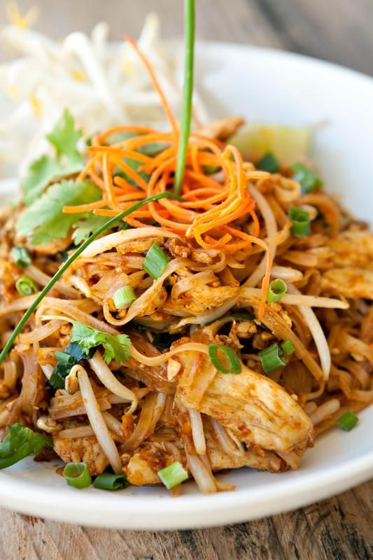 Thai Noodle Salad. Thai cuisine is highlighted by its fresh flavours, with chilies, ginger, palm sugar, tamarind, cilantro and lime all playing a key role.
