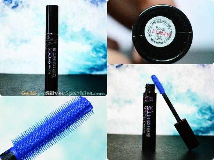 Review: Avon superSHOCK BRIGHTS Mascara #bbloggers #review #coloredmascara #avon #bluemascara #royalblue