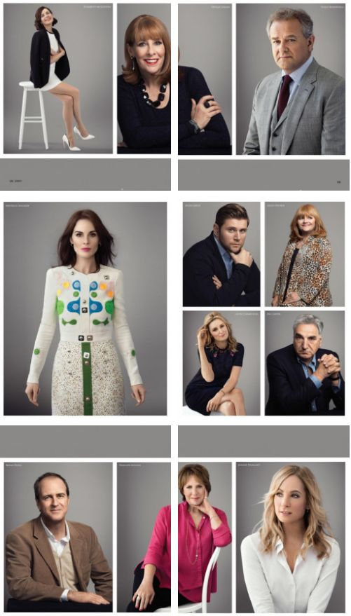 Downton Abbey Cast - Emmy Magazine 2016 // they're all such lovely humans ... love Carson's smolder ;)