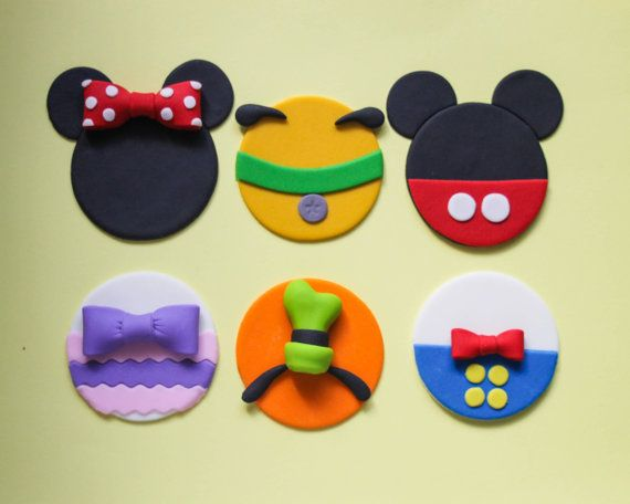 12 Mickey Mouse Clubhouse Party Fondant by ToppingItSweetly, $25.00