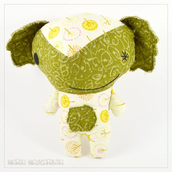 Cheeky Alba  stuffed toy for children yellow by MariaMascarilha