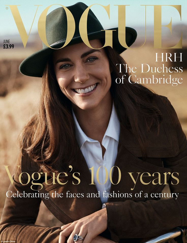 In a landmark series of portraits celebrating the 100th anniversary of British Vogue, the Duchess of Cambridge is set to appear on newsstands as the June cover girl