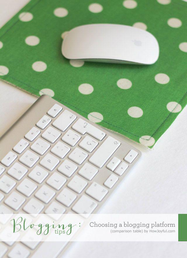 Choosing a blogging platform (Comparison table)Platform Comparison, Mouse Pads, Blog Growing, Blog Tips, Blog Biz, Platform Tables, Beginners Bloggers, Blog Platform Wordpress, Comparison Tables