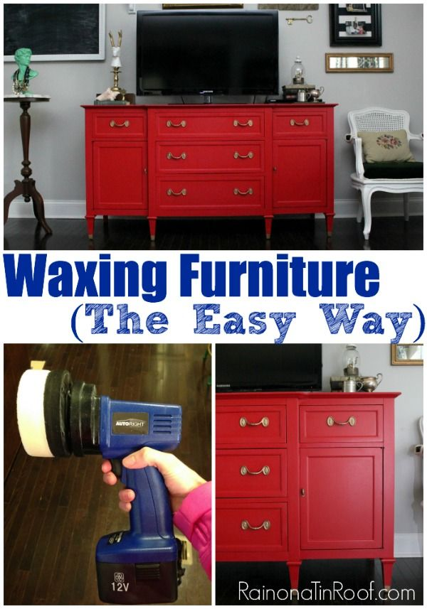 I have always had trouble waxing furniture. I either didn't get enough protection or too much. You won't believe how easy this is!! Waxing Furniture the easy way via RainonaTinRoof.com