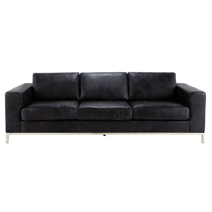 M s de 17 ideas fant sticas sobre sof s de cuero negro en for Sofas grandes de piel