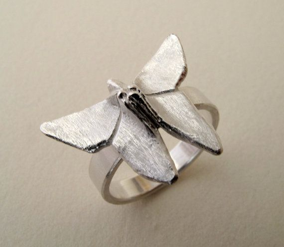 Origami Butterfly Ring by monteazul on Etsy, €32.00