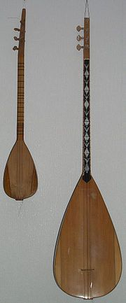 Stringed instrument - various regions. Cura or baglama. Bosnia and or Balkan folklore